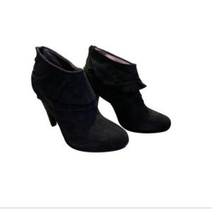 Steve Madden Suede Ankle Boots Sz 7 1/2 Bootie 7.5